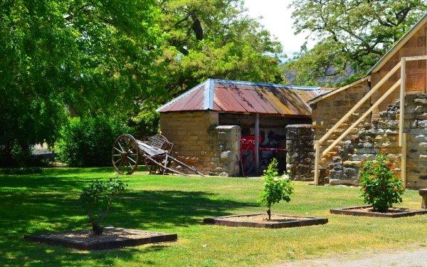 Man Made Eskbank House Building Lithgow Australia Tree Cart HD Wallpaper | Background Image
