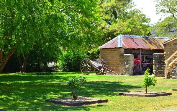 Man Made Eskbank House Building Lithgow Cart Australia Tree HD Wallpaper | Background Image