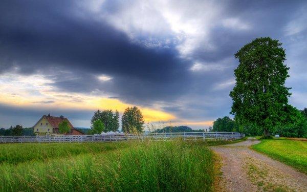 Fotografía Paisaje Naturaleza Granja Árbol Fondo de pantalla HD | Fondo de Escritorio