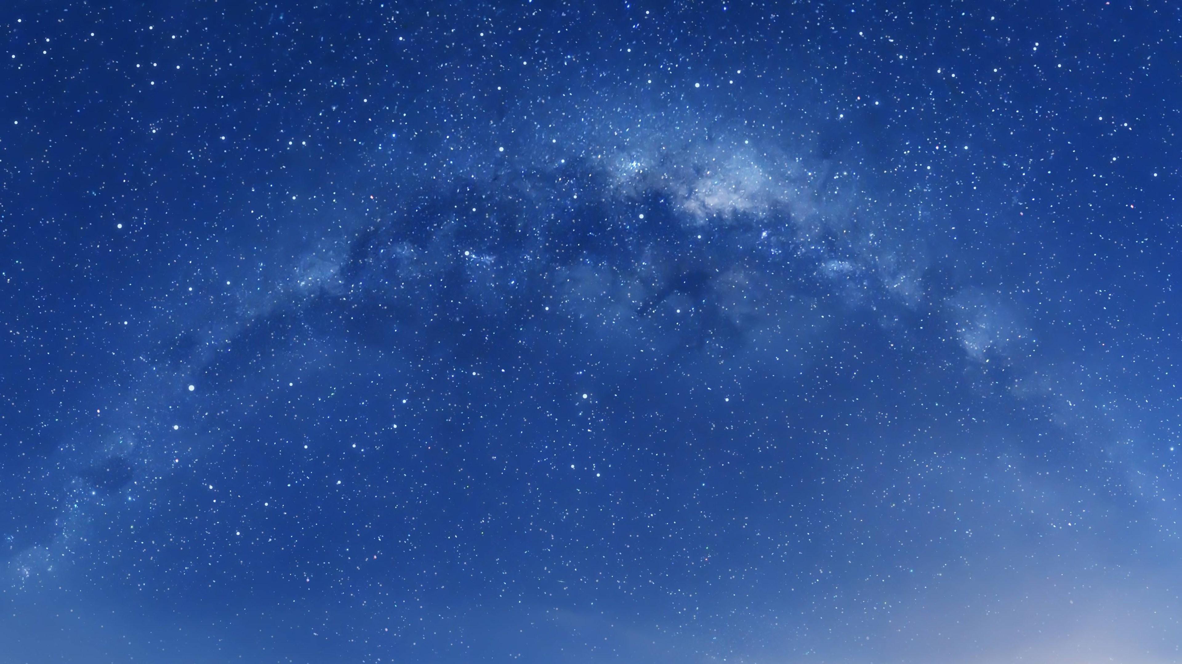 Galaxy 4k ultra hd wallpaper background image - Blue space galaxy wallpaper ...