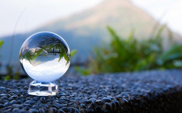 Photographie Réflection Globe Verre Fond d'écran HD | Arrière-Plan