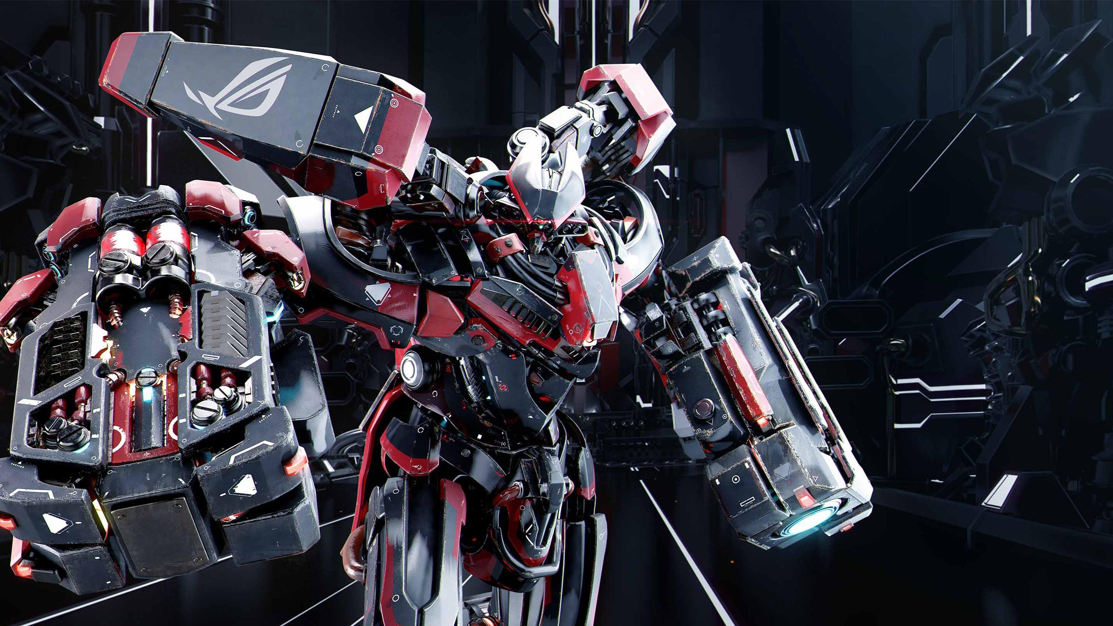 Asus rog robot 4k ultra hd fond d 39 cran and arri re plan for Fond ecran qhd