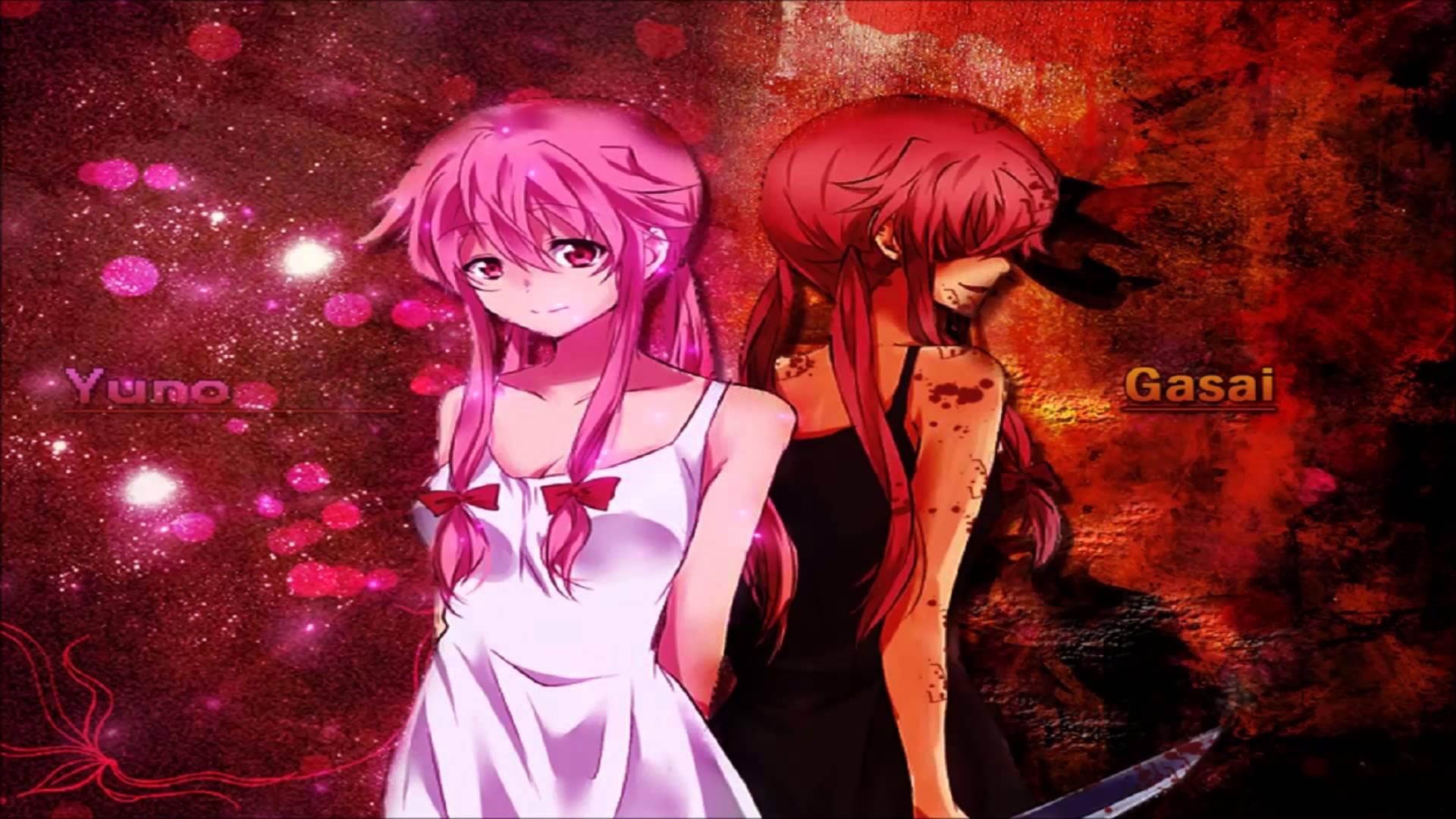 Yuno Gasai Light Dark Full HD Wallpaper And Background Image