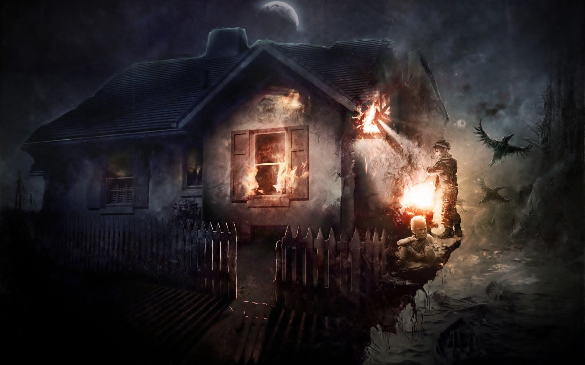 Dark - House  Wallpaper