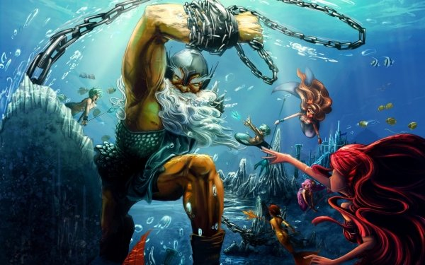 Fantaisie Poseidon Fond d'écran HD   Image