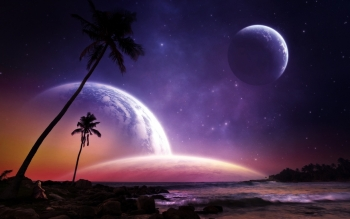 Science-Fiction - Planetenaufgang Wallpapers and Backgrounds ID : 473368