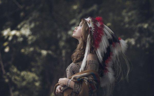 Femmes Amérindiens Top Model Fond d'écran HD | Arrière-Plan