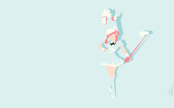 Anime Kill La Kill Girl Minimalist Hat Boots Dress Blue Dress Pink Hair Nonon Jakuzure HD Wallpaper | Background Image