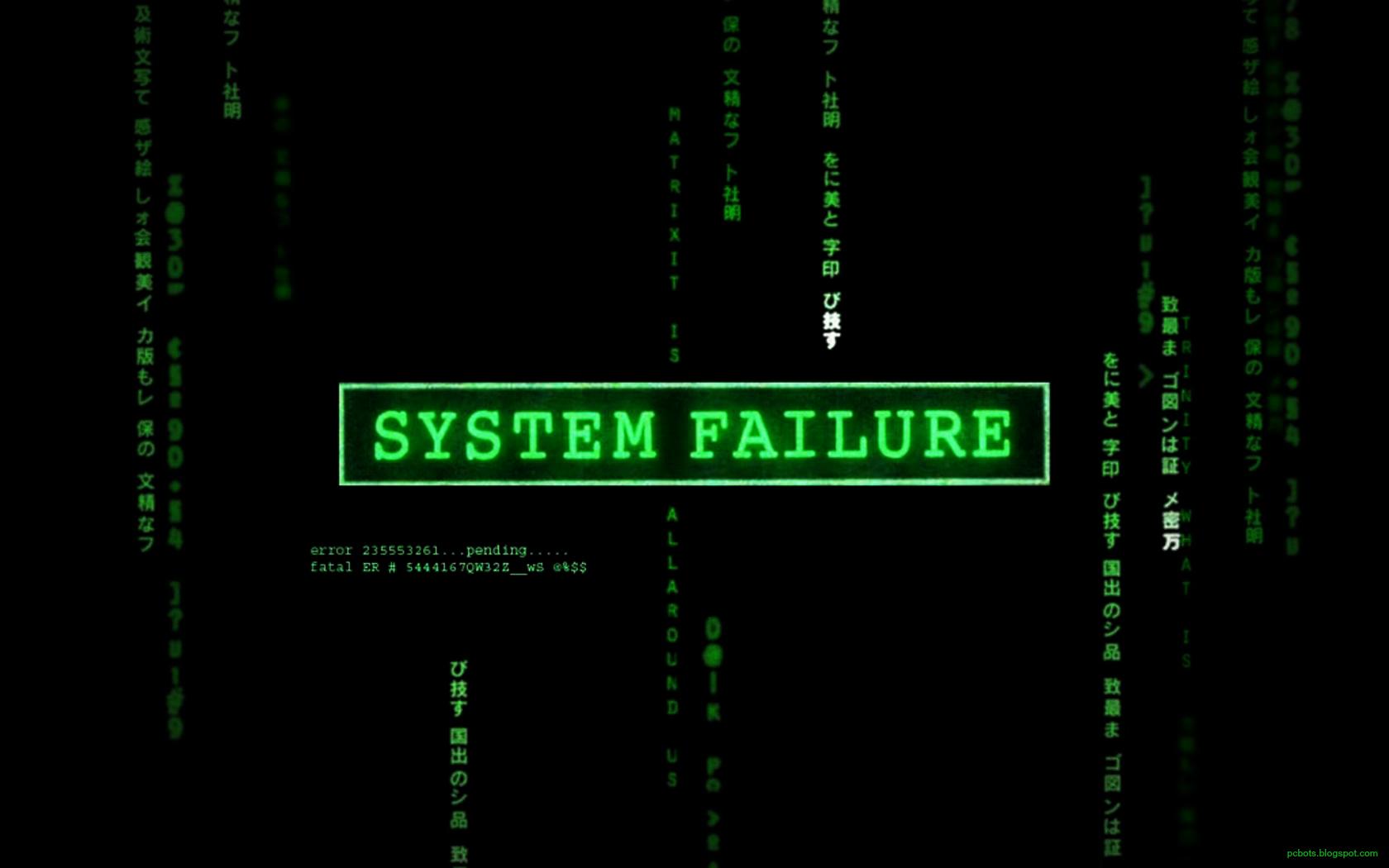 Technology - Hacker  System Falture Matrix Wallpaper
