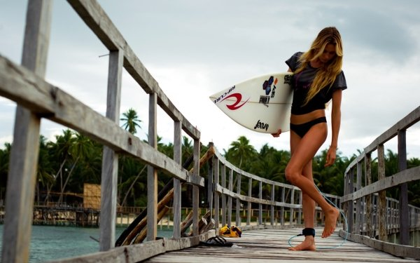 Sports Alana Blanchard Surfboard HD Wallpaper   Background Image