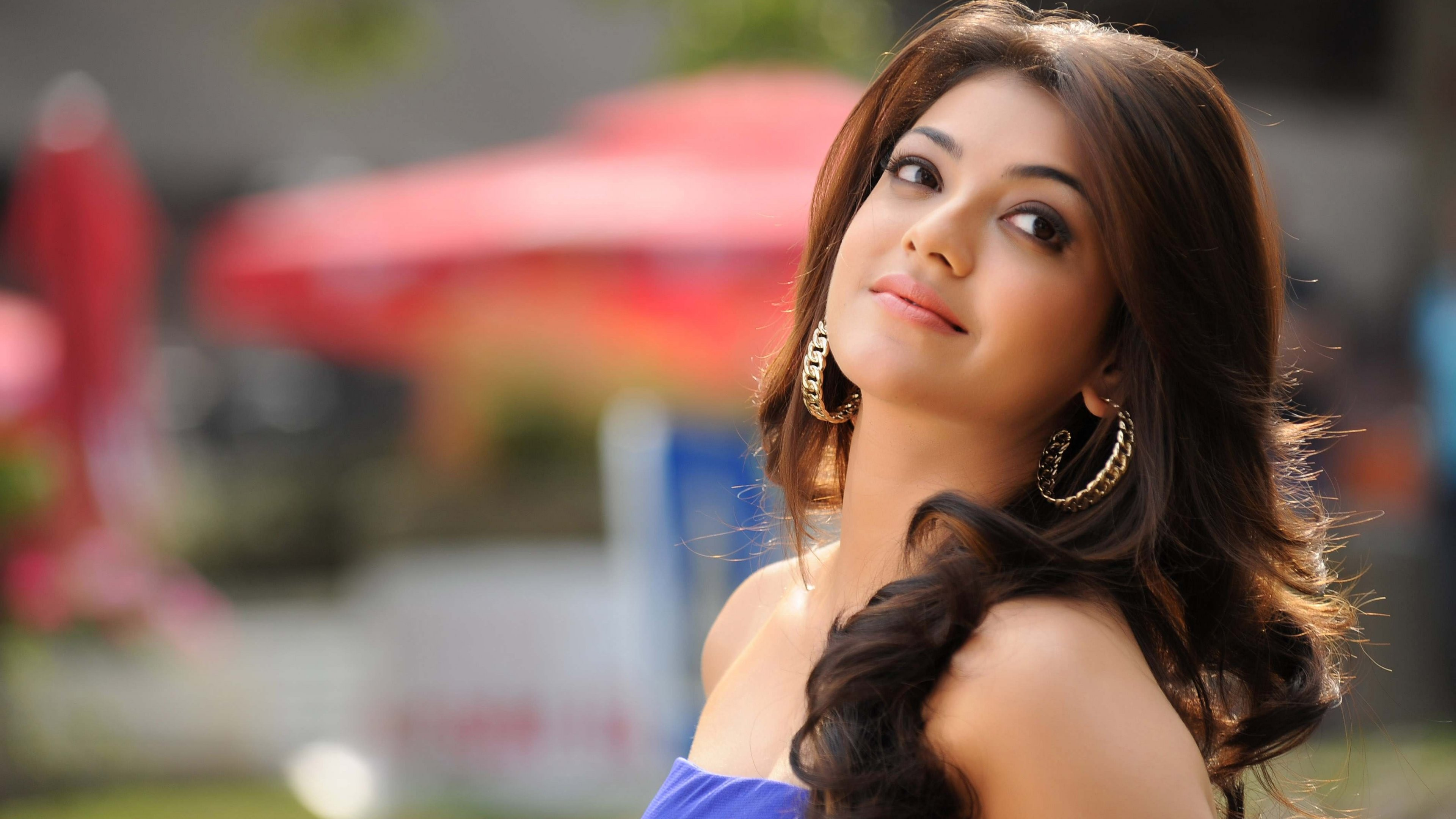kajal agarwal 4k ultra hd wallpaper and background image | 3840x2160