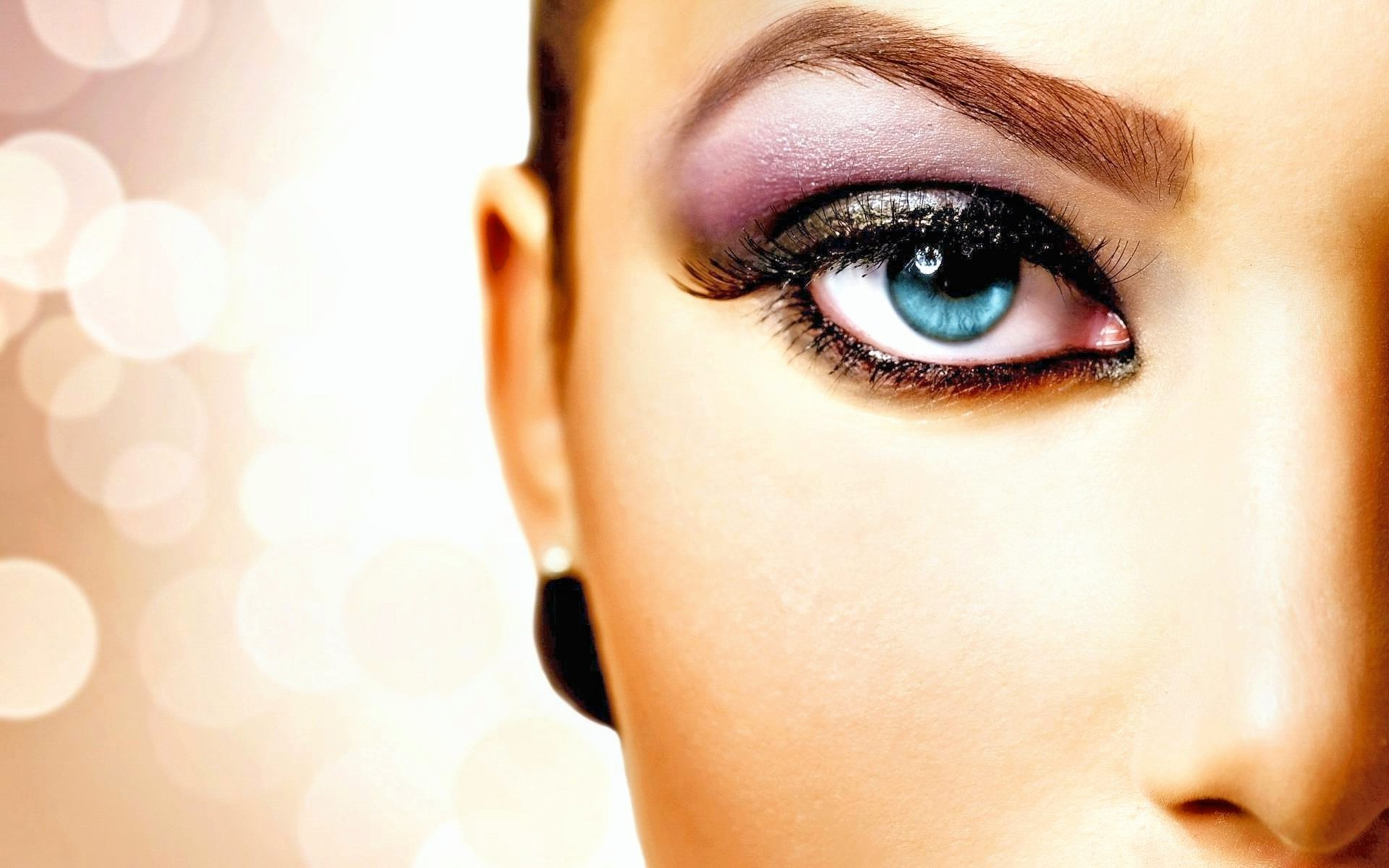 Women - Beautiful  Face Eye Bokeh Wallpaper