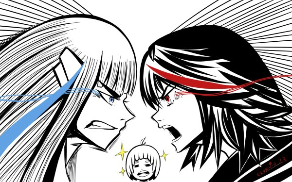 Anime Kill La Kill Ryūko Matoi Satsuki Kiryūin Mako Mankanshoku HD Wallpaper   Background Image