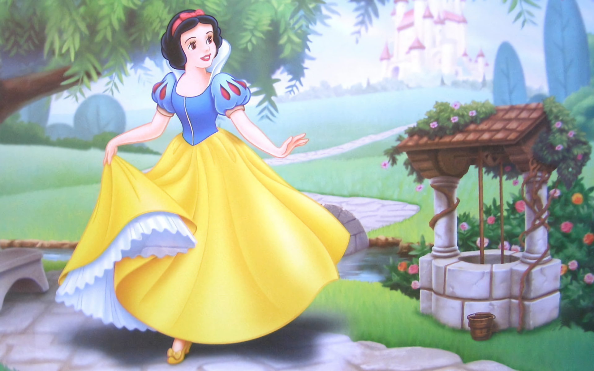 snow white and the seven dwarfs full hd wallpaper and background