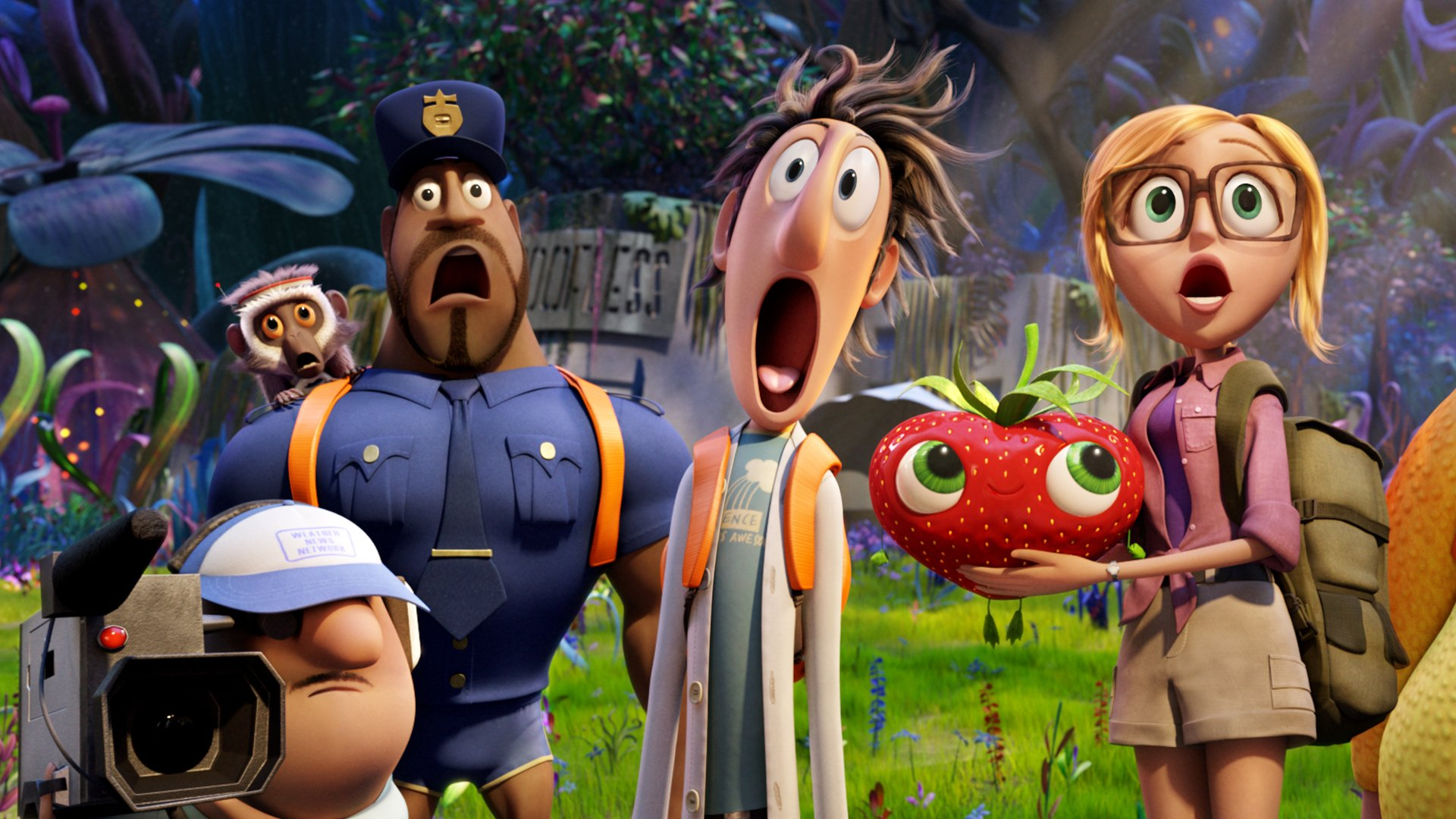 Cloudy With A Chance Of Meatballs 2 HD Wallpaper
