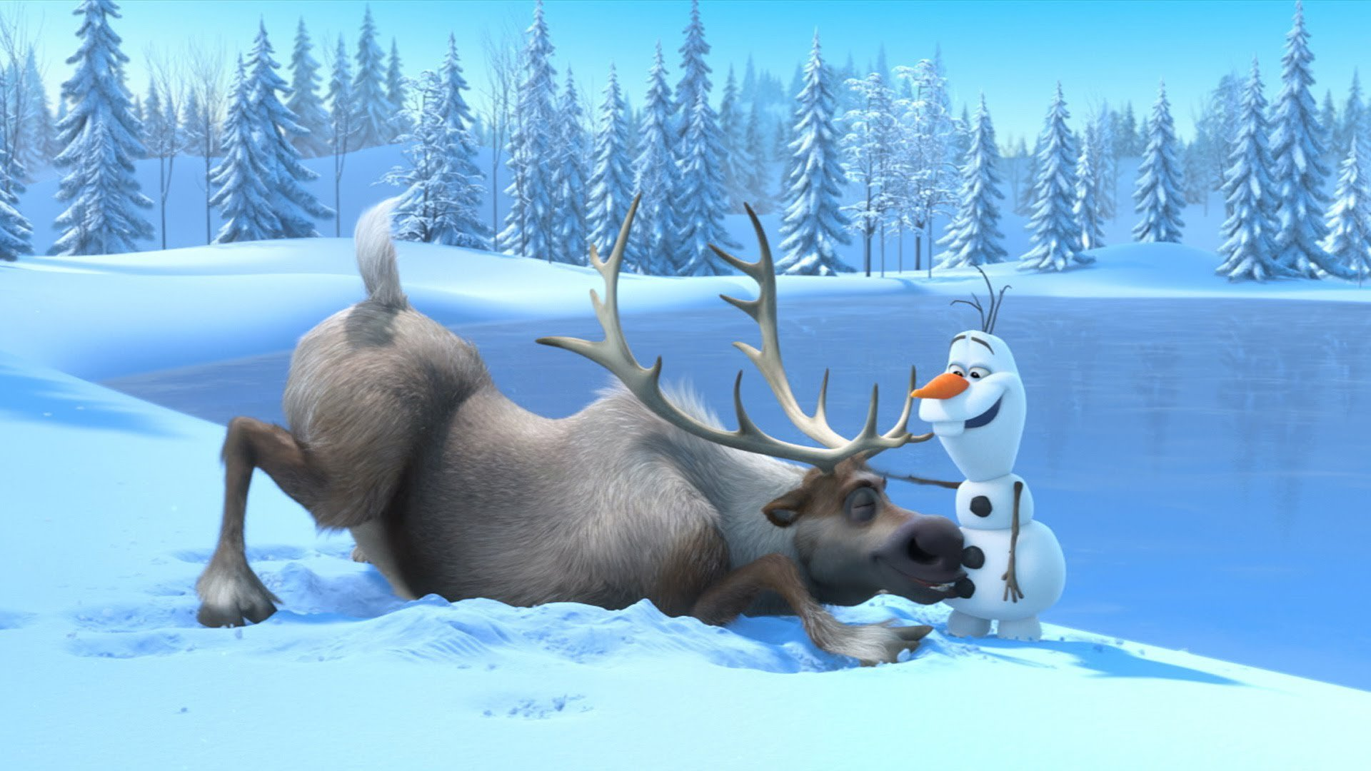 Movie - Frozen  Olaf (Frozen) Sven (Frozen) Frozen (Movie) Wallpaper