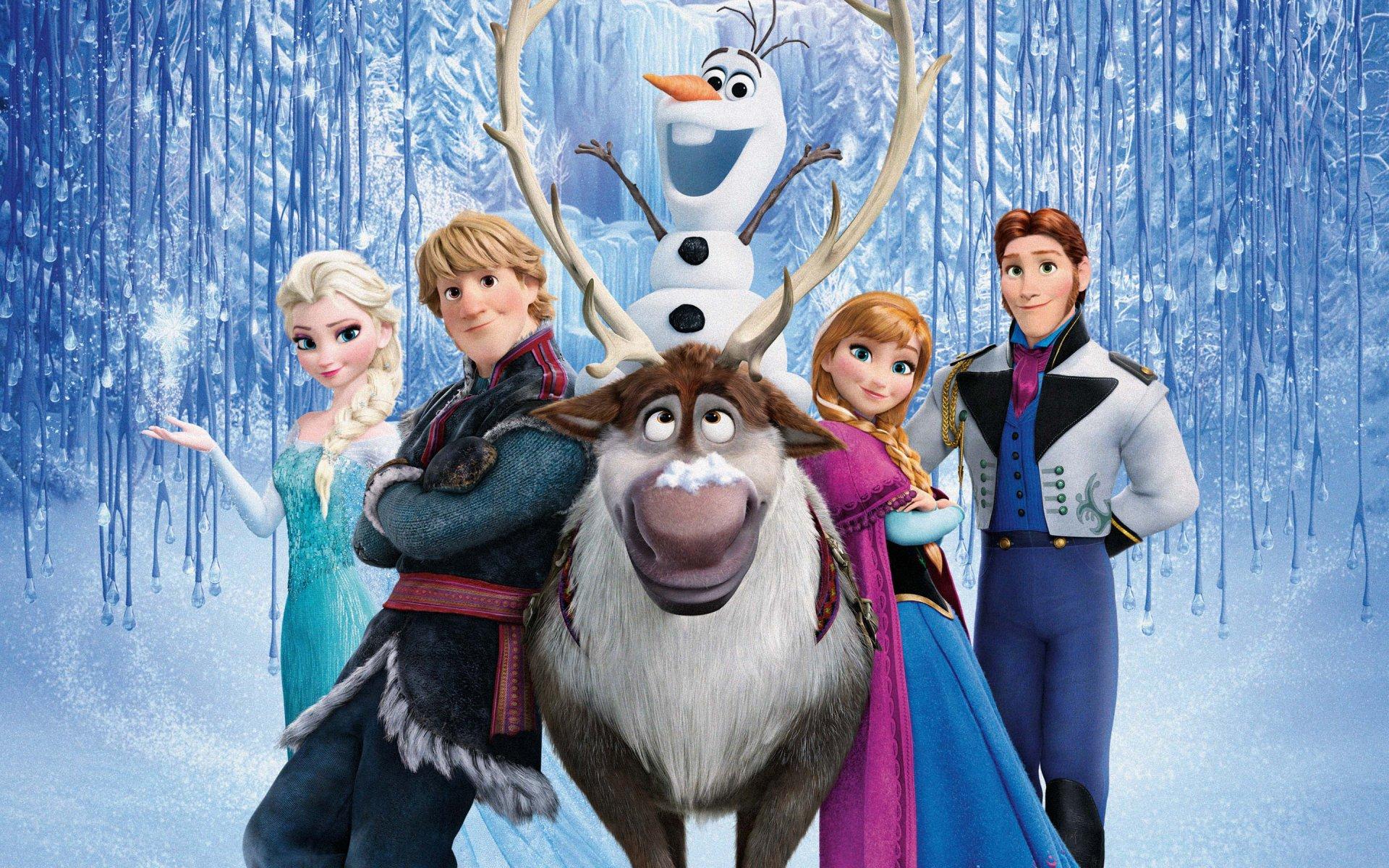 Movie - Frozen  Kristoff (Frozen) Sven (Frozen) Hans (Frozen) Olaf (Frozen) Elsa (Frozen) Anna (Frozen) Frozen (Movie) Arendelle Snow Wallpaper