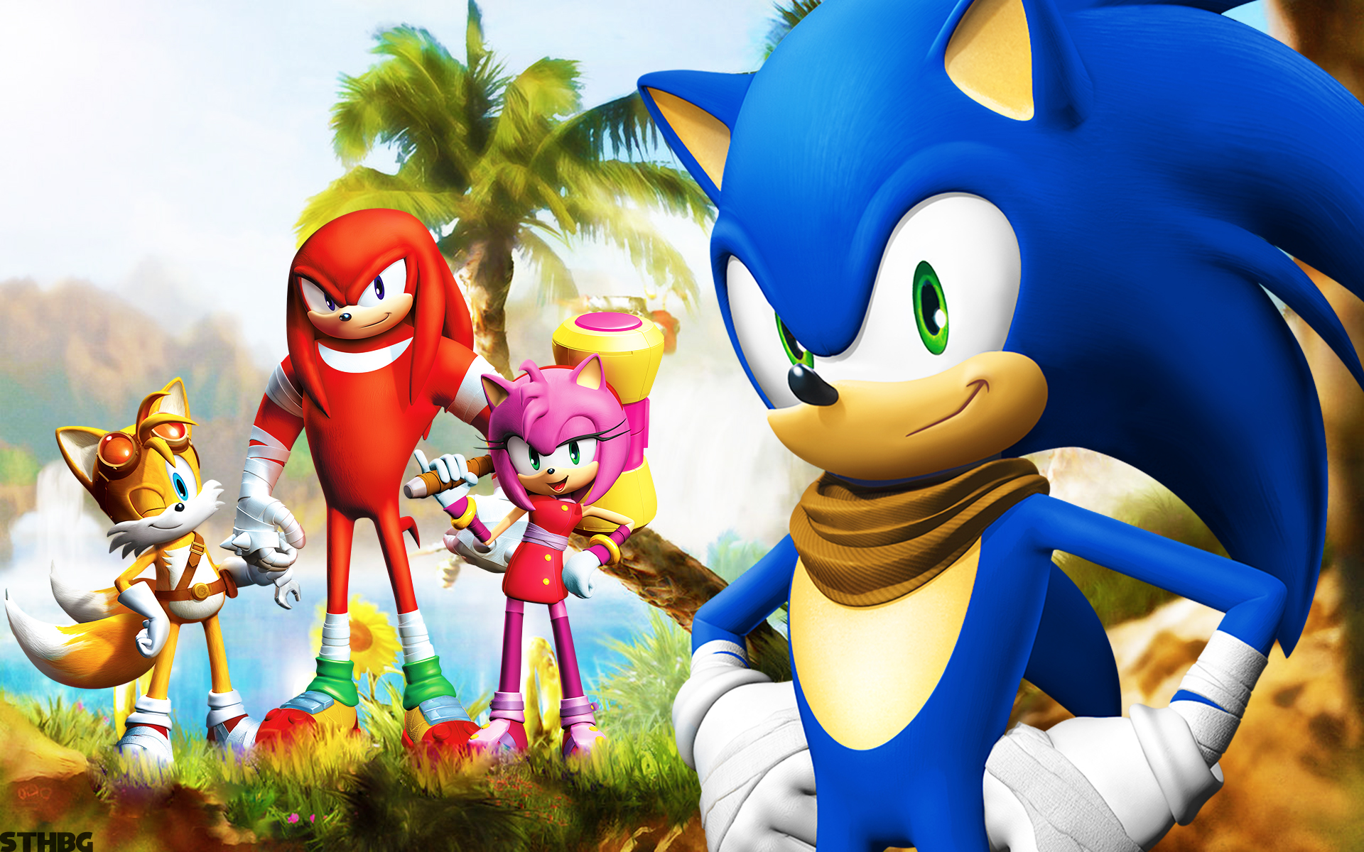 Sonic boom full hd wallpaper and background image 1920x1200 id tv show sonic boom knuckles the echidna amy rose miles voltagebd Gallery