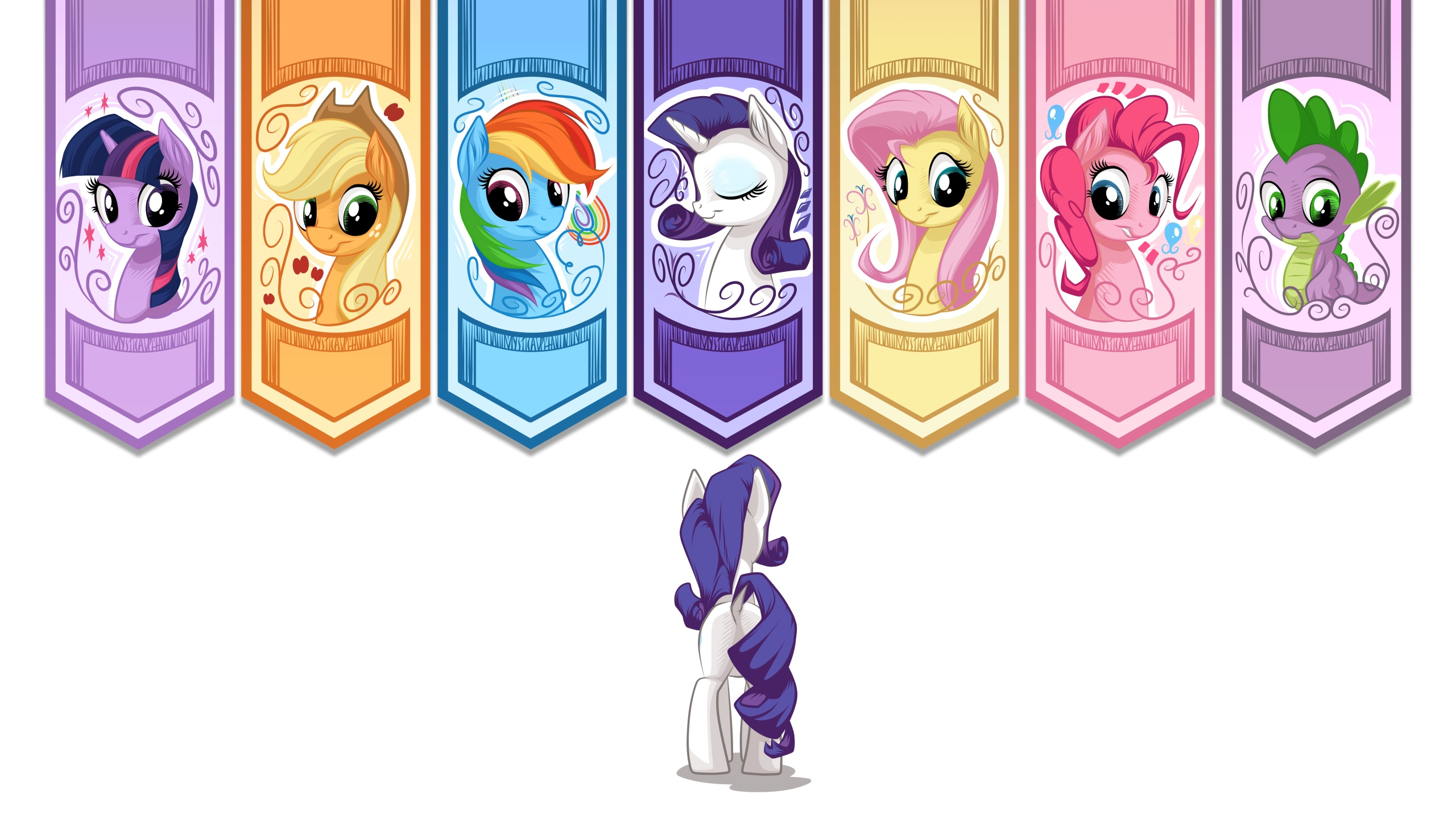 My Little Pony La Magia De Amistad Full HD Fondo