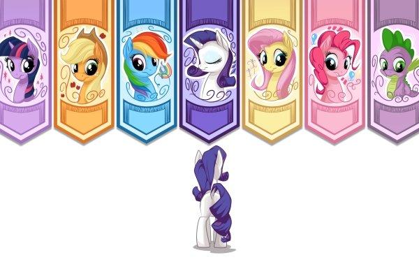 TV Show My Little Pony: Friendship is Magic My Little Pony Twilight Sparkle Applejack Fluttershy Rarity Pinkie Pie Rainbow Dash Dragon Spike HD Wallpaper   Background Image