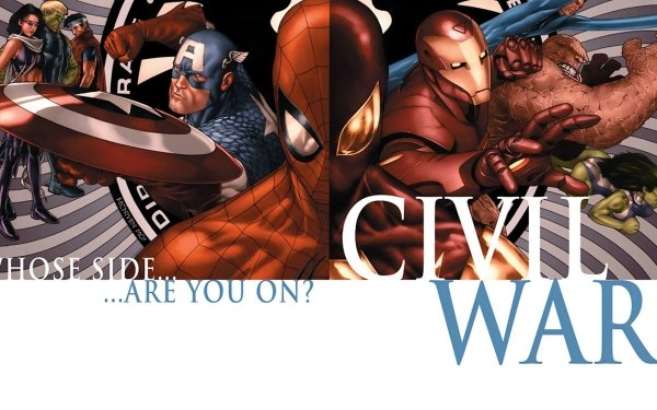Bande-dessinées Civil War Captain America Spider-Man Iron Man Miss Hulk Thing Kate Bishop Hulkling Wiccan Fond d'écran HD | Image