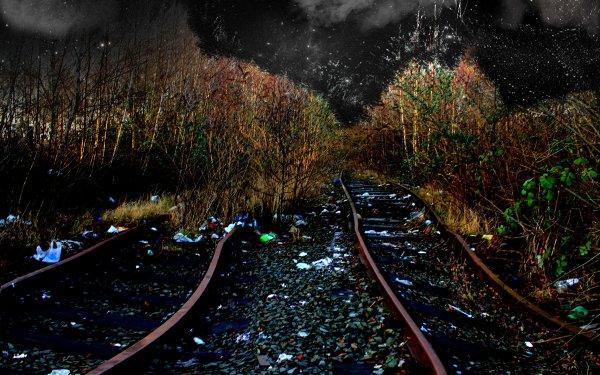 Photography Manipulation Night Abandoned HD Wallpaper | Background Image