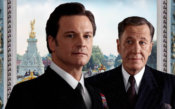 Movie The King's Speech Colin Firth King George Vi Geoffrey Rush Lionel Logue HD Wallpaper | Background Image