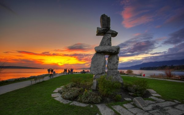 Man Made Monument Monuments Sunset HD Wallpaper   Background Image