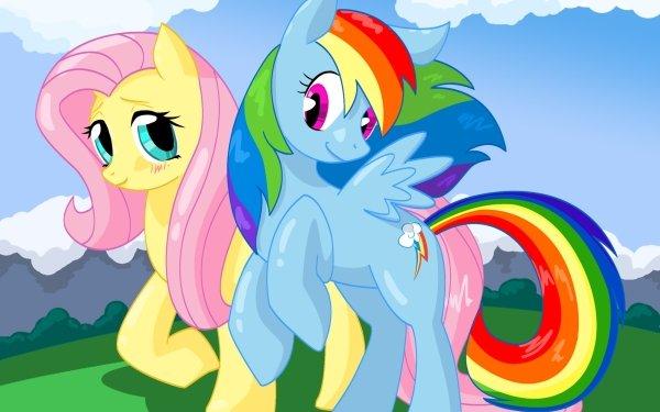 TV Show My Little Pony: Friendship is Magic My Little Pony Fluttershy Rainbow Dash HD Wallpaper | Background Image