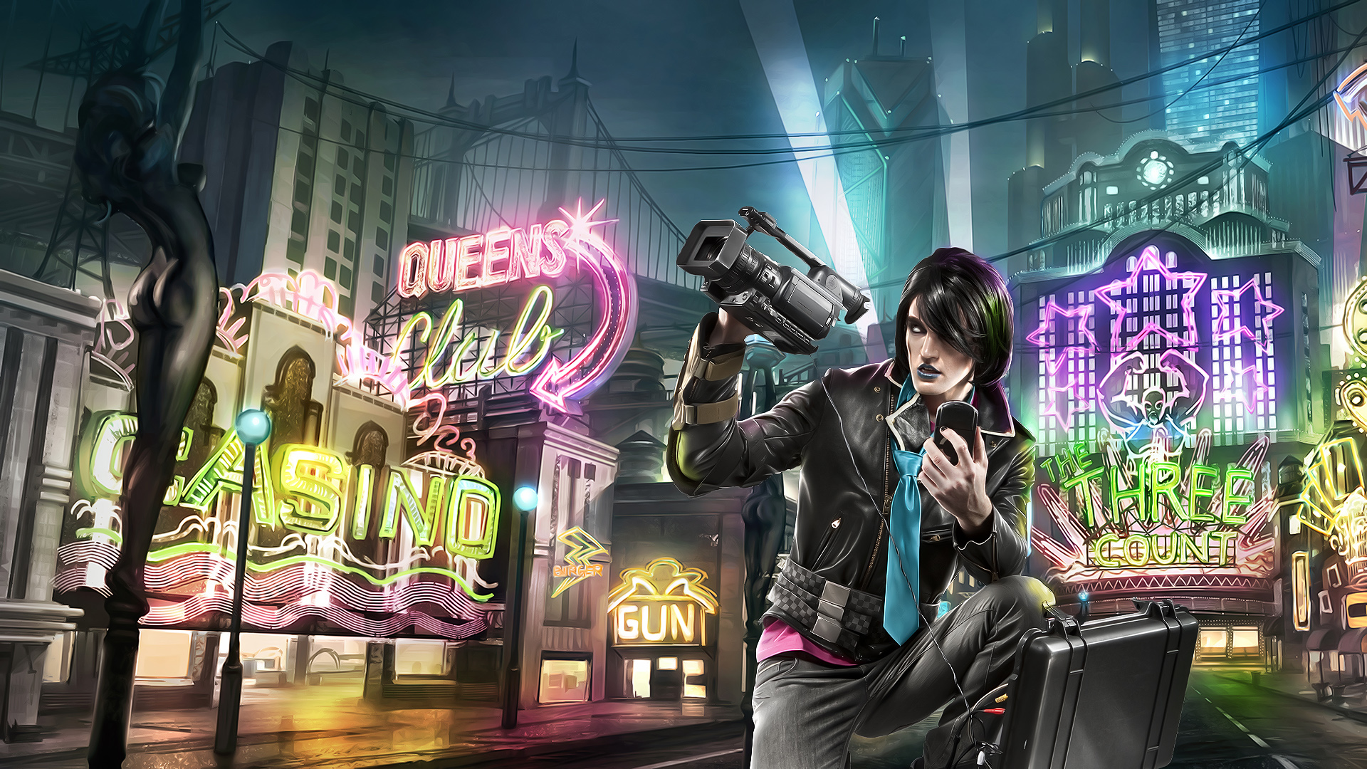 Saints row the third full hd wallpaper and background image video game saints row the third wallpaper voltagebd Images