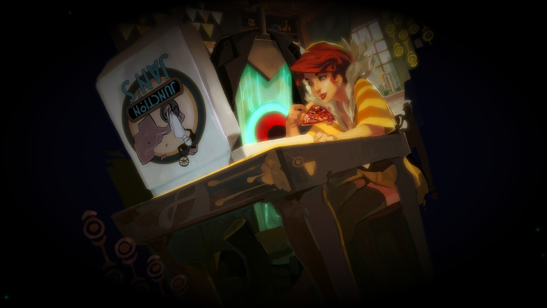 Screenshot from the new game Transistor [x wallpaper