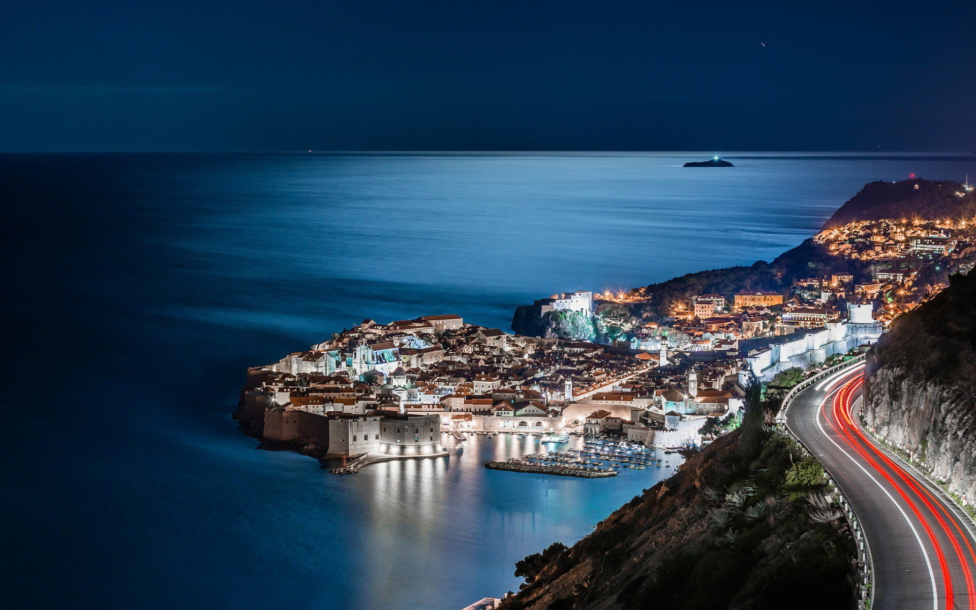 Man Made - Dubrovnik  Time-Lapse Town City Road Ocean Wallpaper