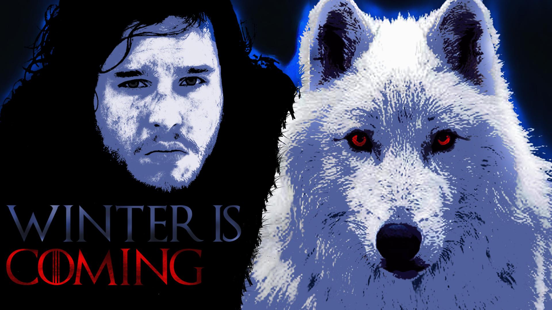 Jon Snow And Ghost Wallpaper HD Wallpaper