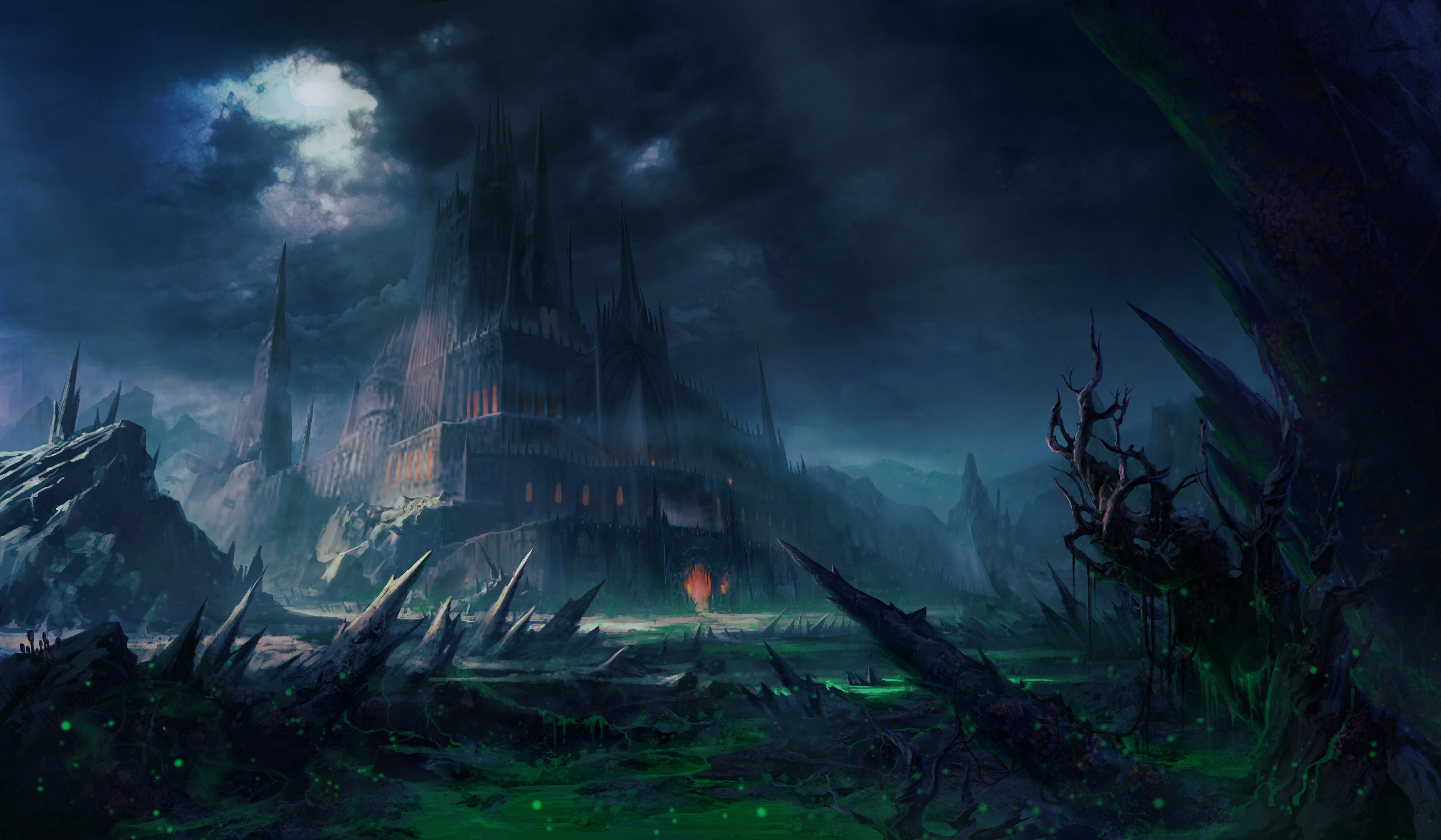 hình nền desktop chủ đề lâu đài