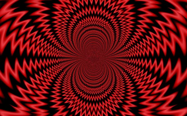 Abstract Red Artistic Bright Illusion Kaleidoscope HD Wallpaper | Background Image