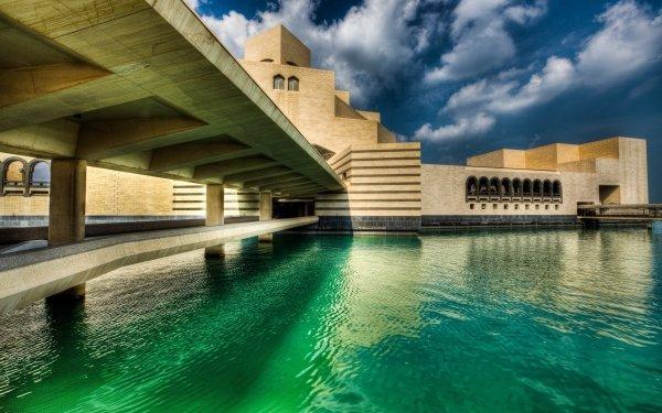 Man Made Doha Cities Qatar Museum HD Wallpaper | Background Image