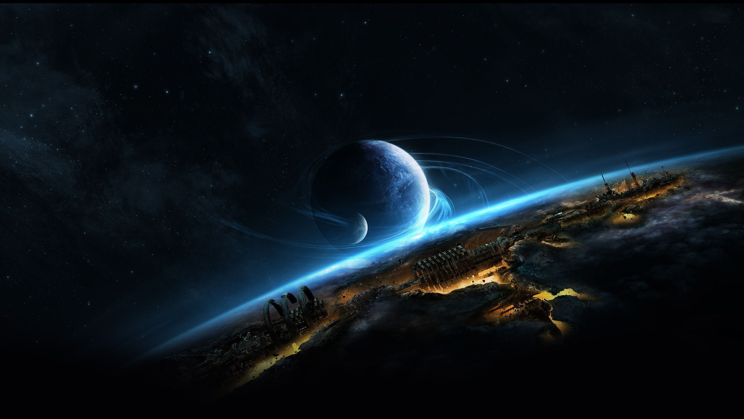 Planetscape HD Wallpaper | Background Image | 2560x1440 ...