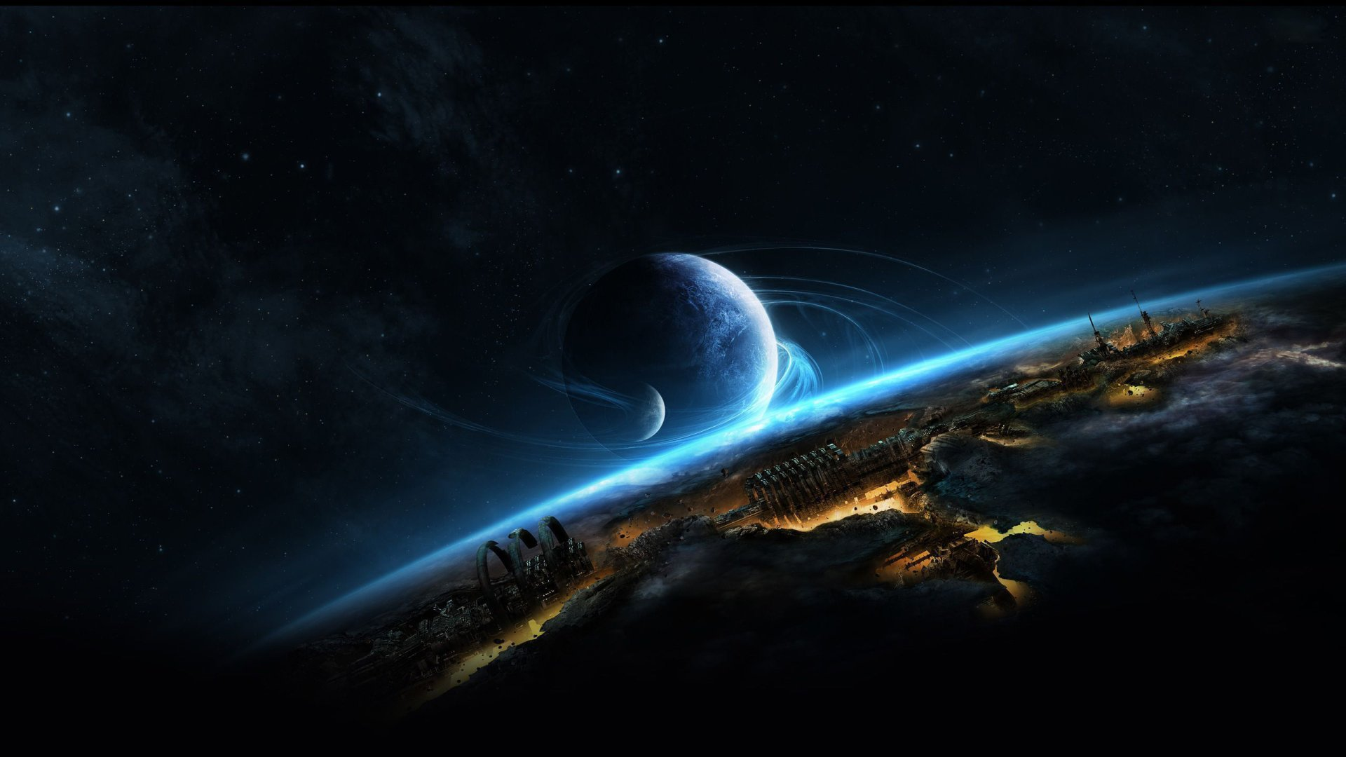 Sci Fi - Planetscape  Planet Wallpaper