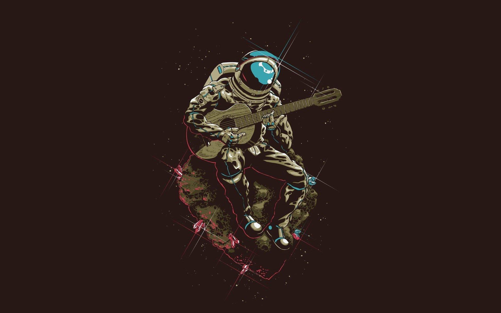 Imagenes Para Fondo De Pantalla: Astronaut Playing The Guitar Fondo De Pantalla HD