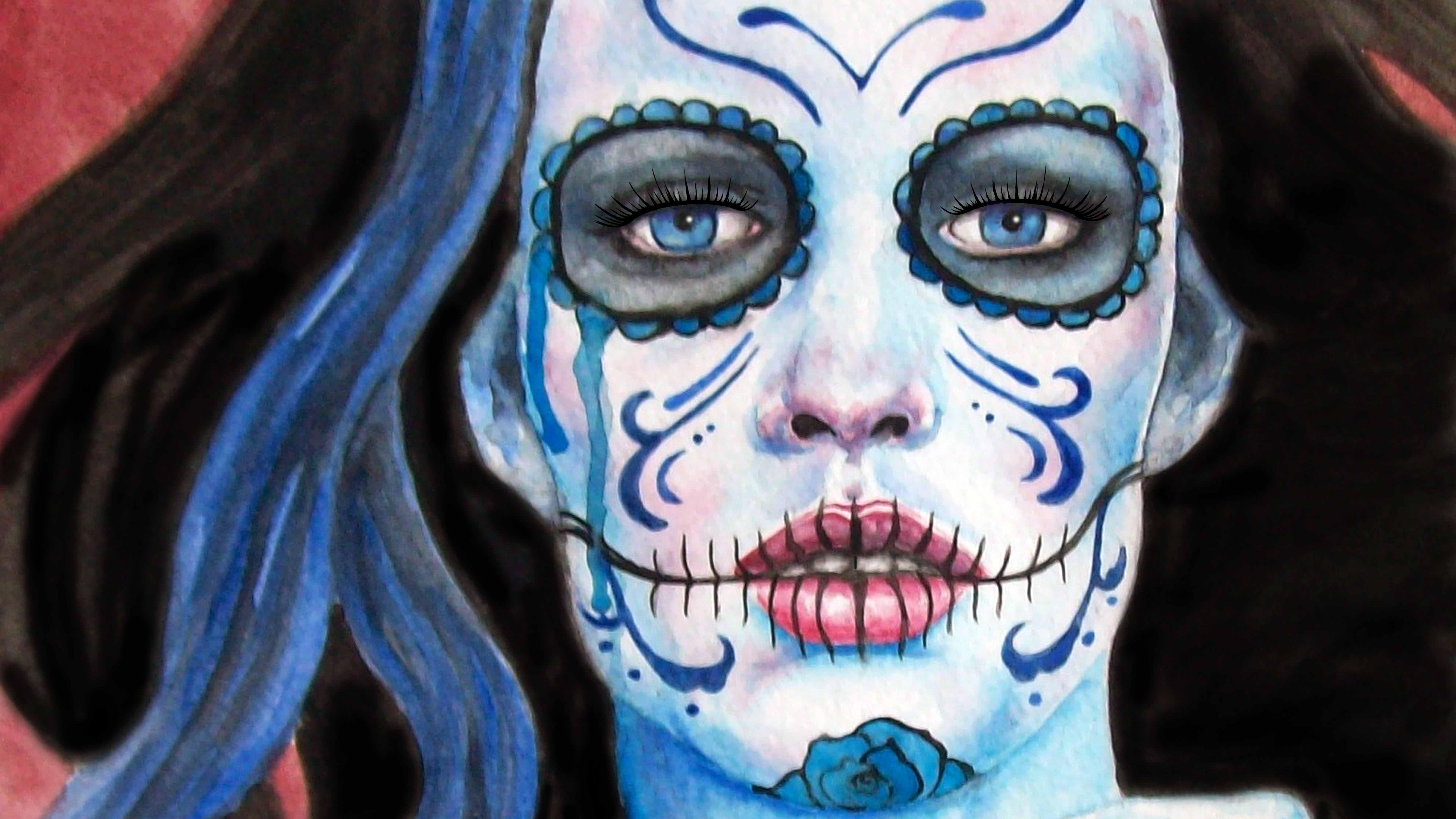 Sugar Skull 8k Ultra HD Wallpaper | Background Image