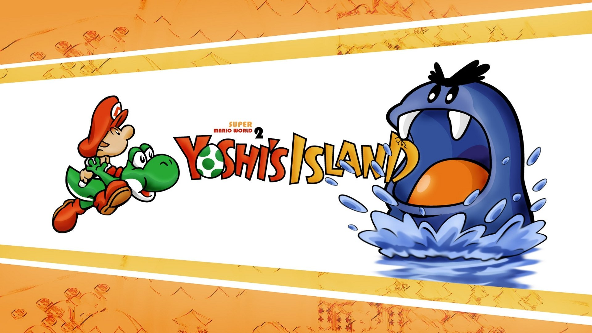 Video Game - Super Mario World 2: Yoshi's Island  Baby Mario Yoshi Wallpaper
