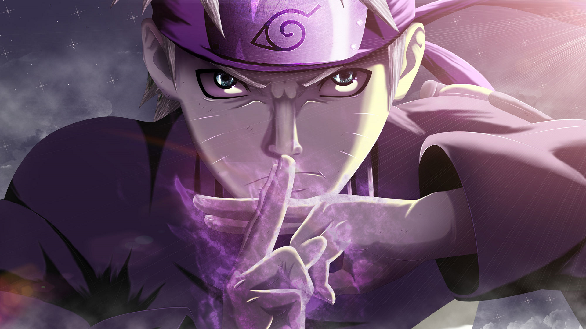 动漫 - 火影忍者  Naruto Uzumaki 紫色 壁纸