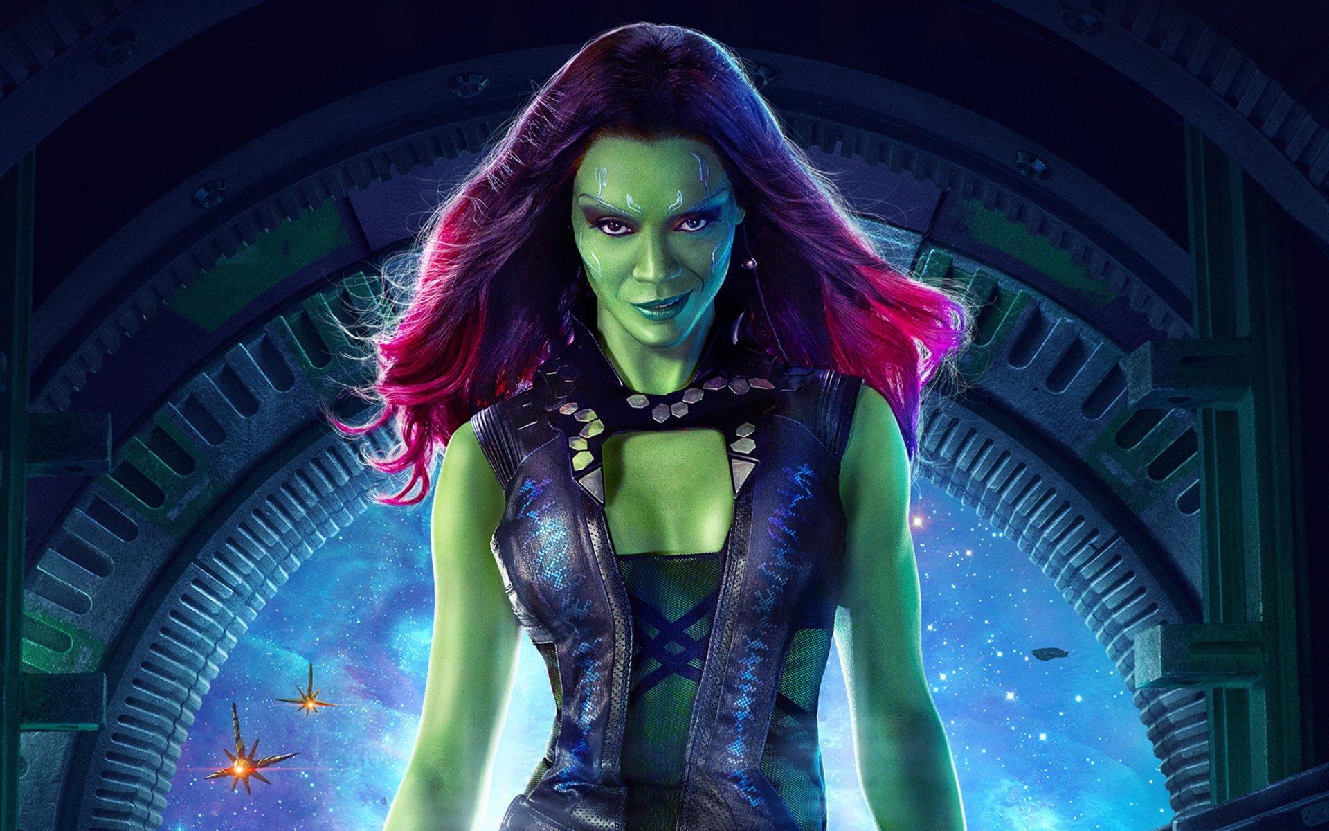 Movie - Guardians of the Galaxy  Zoe Saldana Gamora Wallpaper