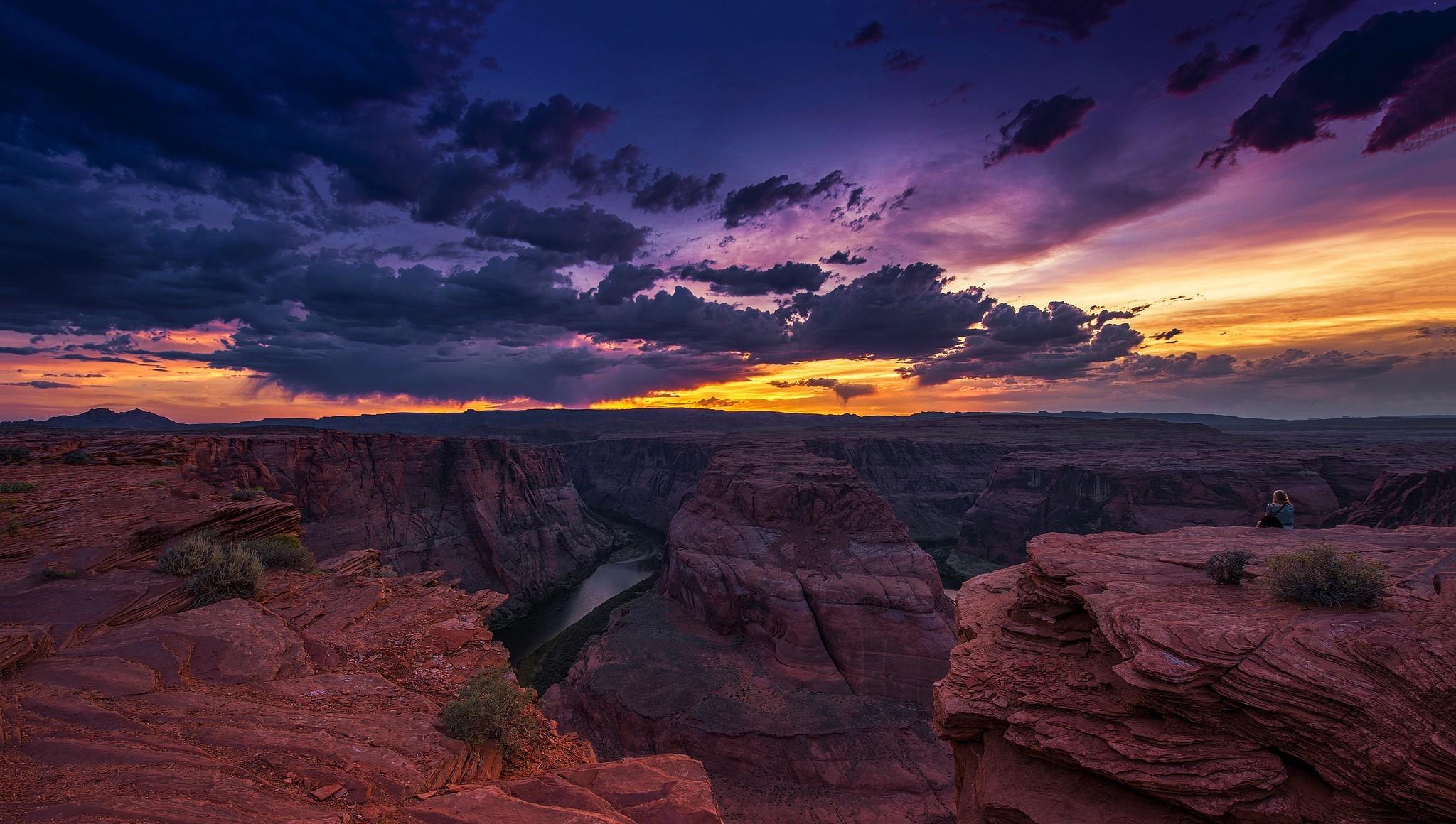 Tierra/Naturaleza Gran Cañón Arizona Canyon Evening Sunset ... Iphone 5 Sunset Wallpaper Hd