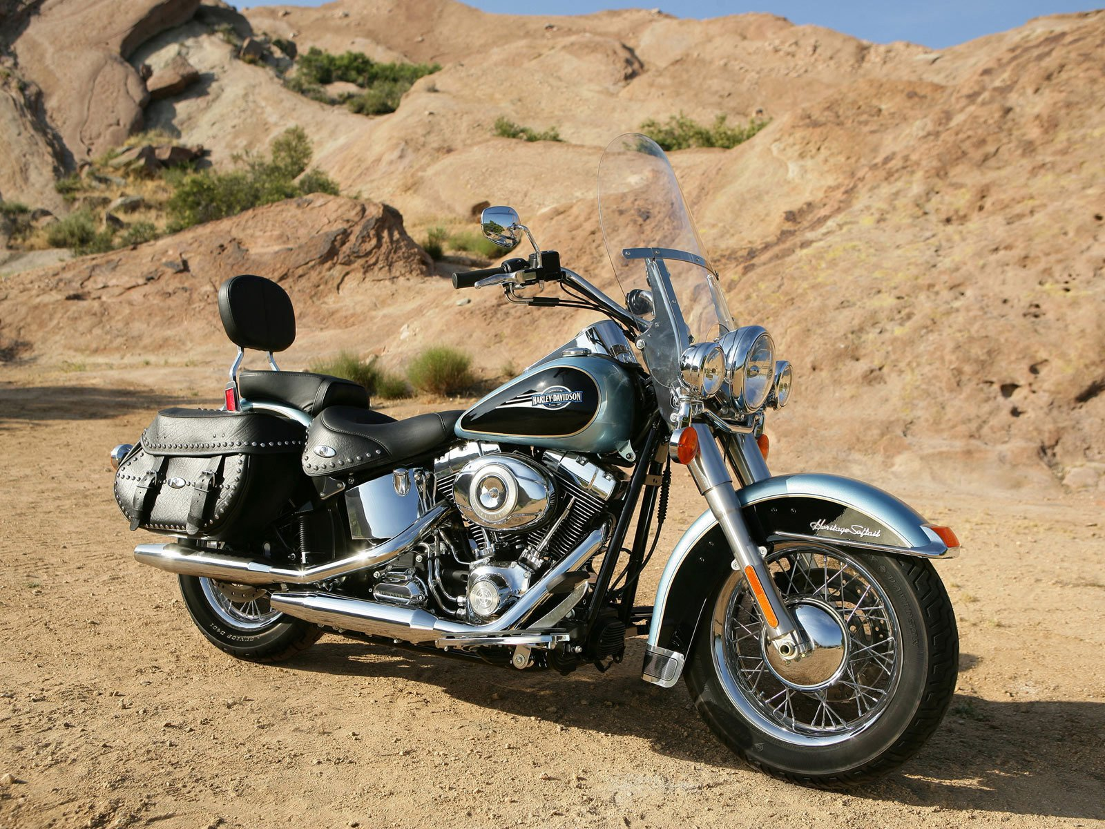 Harley-Davidson Heritage Softail Wallpaper And Background
