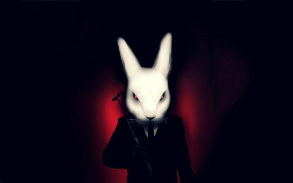Oscuro Animales Conejo Fondo de pantalla HD | Fondo de Escritorio