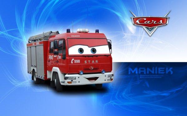 Movie Cars Auta Disney Pixar Department Fire Engine HD Wallpaper | Background Image