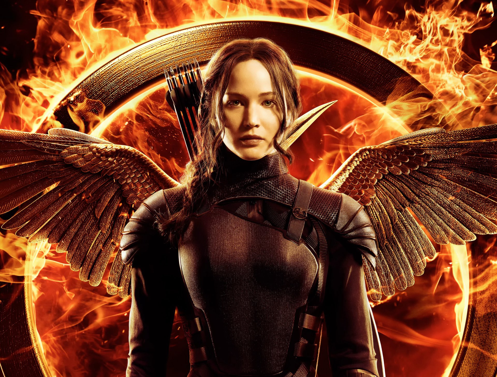 Films - Hunger Games : La Révolte, partie 1  Hunger Games Jennifer Lawrence Films Wings Feu Flamme Katniss Everdeen Fond d'écran