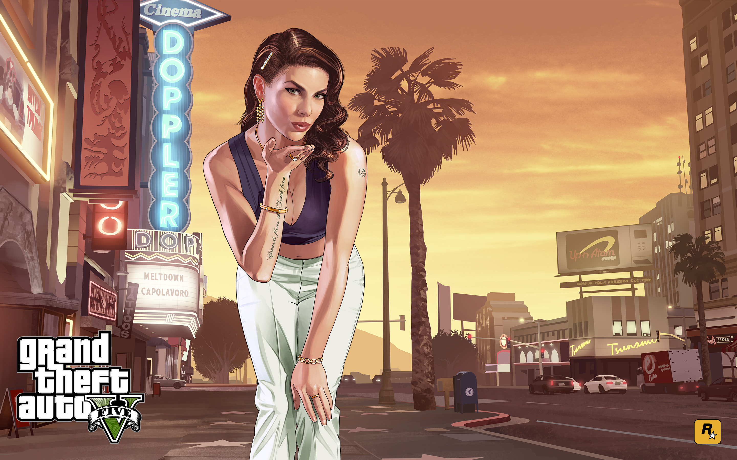Grand Theft Auto V Full HD Wallpaper And Background Image