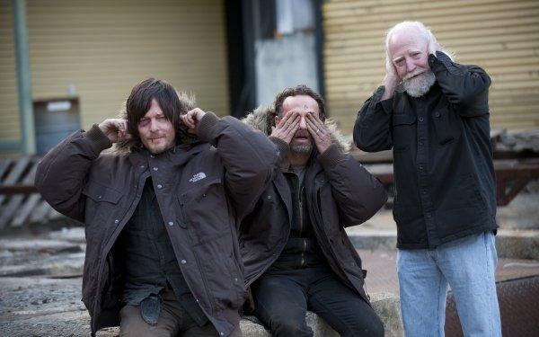 TV Show The Walking Dead Norman Reedus Daryl Dixon Rick Grimes Andrew Lincoln Scott Wilson Hershel Greene HD Wallpaper | Background Image